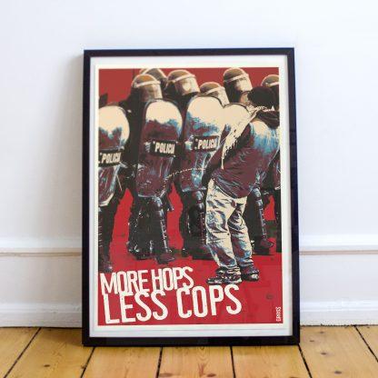 More Hops Less Cops Poster
