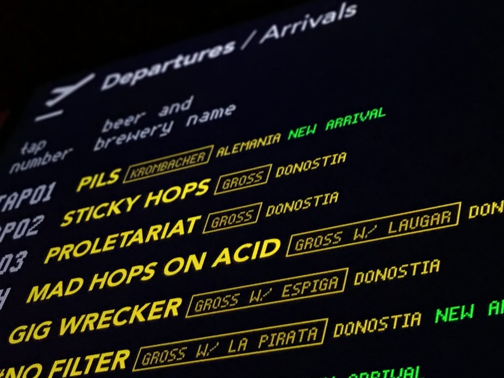 Gross Bar Departures Arrivals